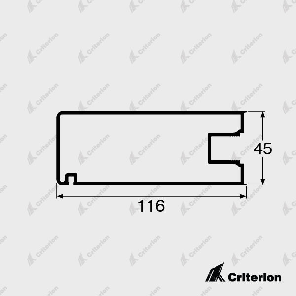 CI-5036 Wide Wiper Stile - Standard - Criterion Industries - office fitouts - australia