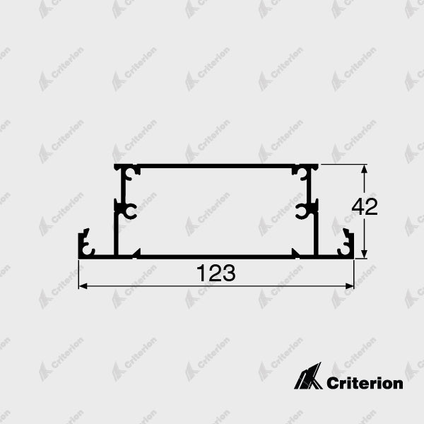 CI-5039 123mm Mid Rail - Standard - Criterion Industries - office fitouts - australia