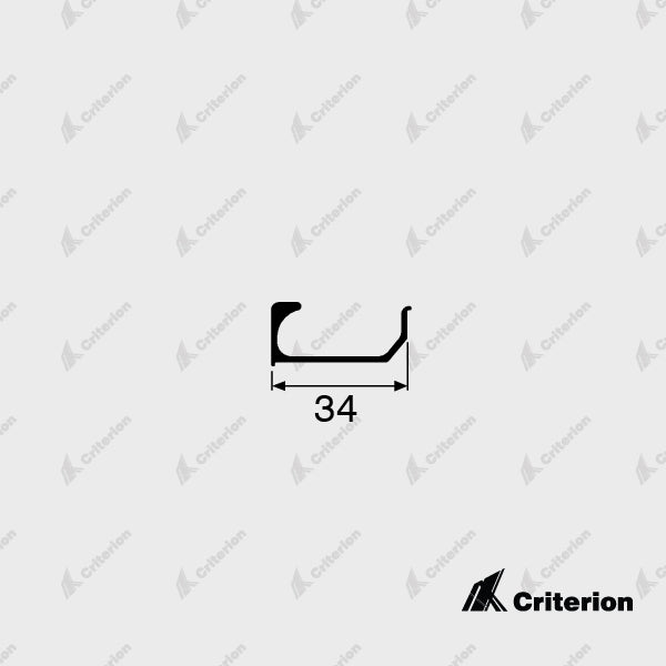 CI-5093 Flush Pull Handle - Standard - Criterion Industries - office fitouts - australia