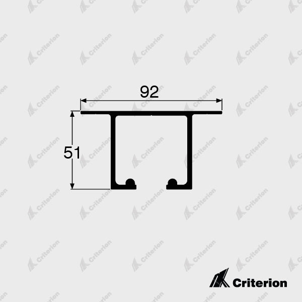 CI-5132 Overhead Track - Standard - Criterion Industries - office fitouts - australia