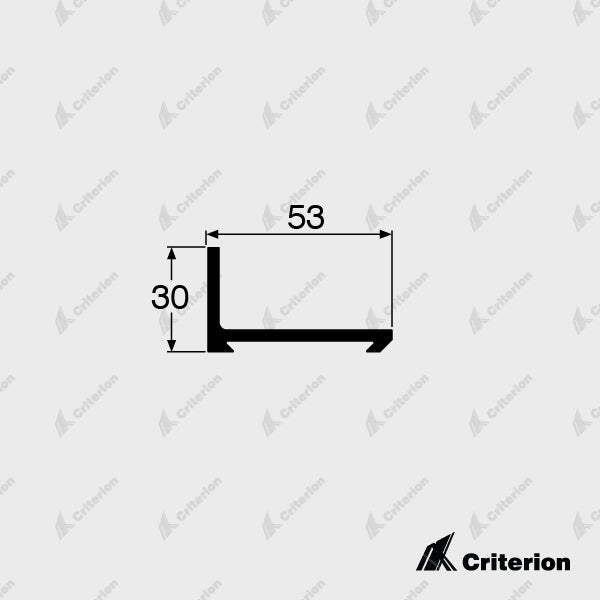 CI-5155 Track Mounting Bracket - Standard - Criterion Industries - office fitouts - australia