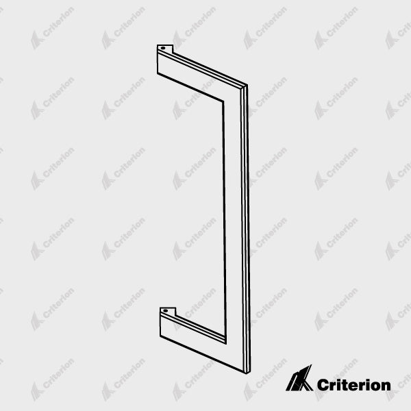 Svelte Door Handle 300mm - Standard - Criterion Industries - office fitouts - australia