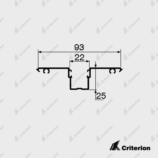 CI-D2540 Glazing Adaptor - Standard - Criterion Industries - office fitouts - australia