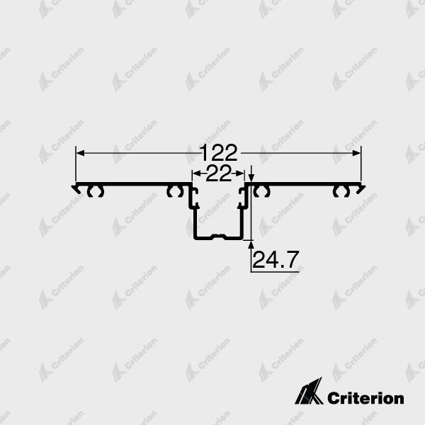 CI-D4540 Glazing Adaptor - Standard - Criterion Industries - office fitouts - australia