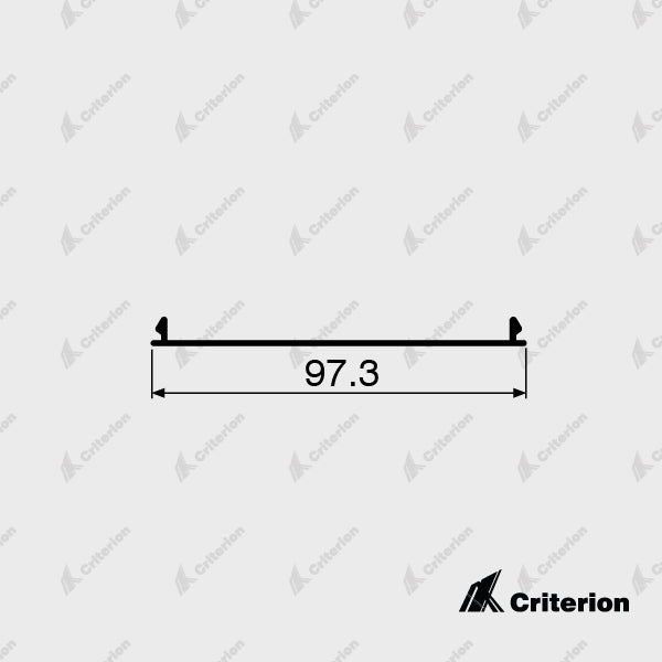 CI-G3182 Transom Flat Filler - Standard - Criterion Industries - office fitouts - australia