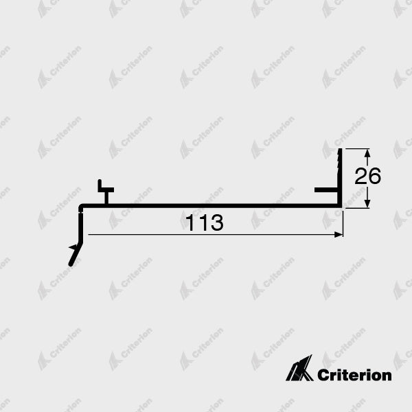 CI-G3185 Slotted Sub Sill - Standard - Criterion Industries - office fitouts - australia