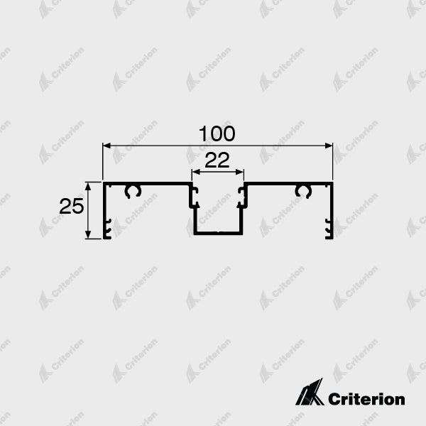 CI-L2430 Window Frame - Standard - Criterion Industries - office fitouts - australia