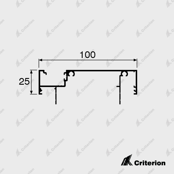 CI-L2436 Offset Glazing Frame (Long Legs) - Standard - Criterion Industries - office fitouts - australia
