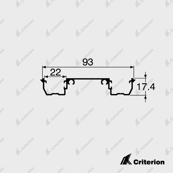 CI-P2242 Double Glazing Adaptor - Standard - Criterion Industries - office fitouts - australia