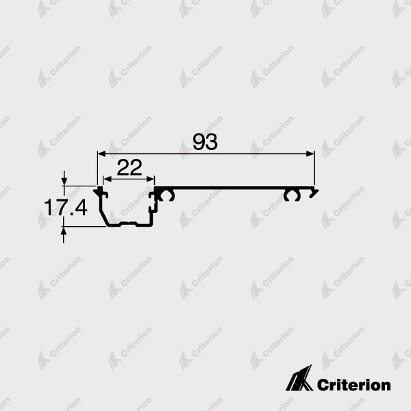 CI-P2243 Offset Glazing Adaptor - Standard - Criterion Industries - office fitouts - australia