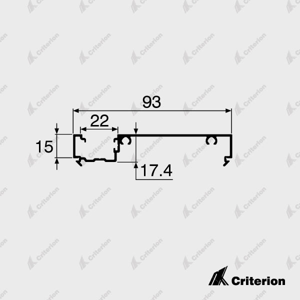 CI-P2245 Offset Frame Adaptor - Standard - Criterion Industries - office fitouts - australia