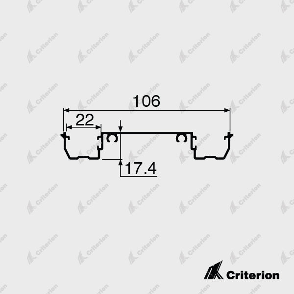 CI-P3242 Double Glazing Adaptor - Standard - Criterion Industries - office fitouts - australia