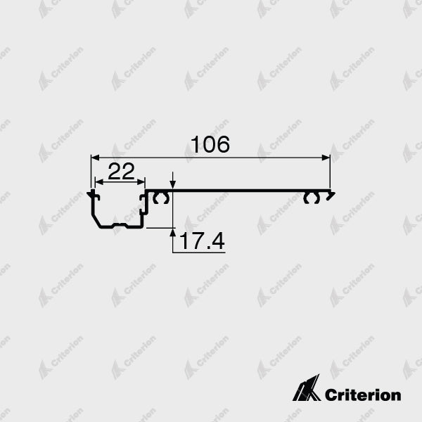 CI-P3243 Offset Glazing Adaptor - Standard - Criterion Industries - office fitouts - australia