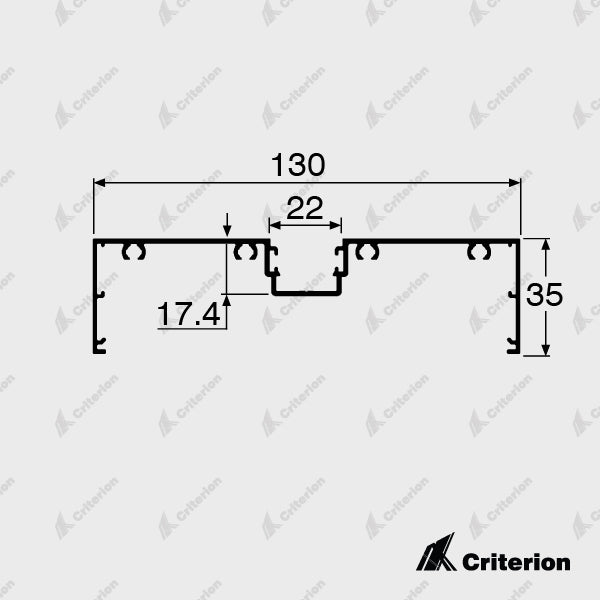 CI-P4230 Window Frame - Standard - Criterion Industries - office fitouts - australia