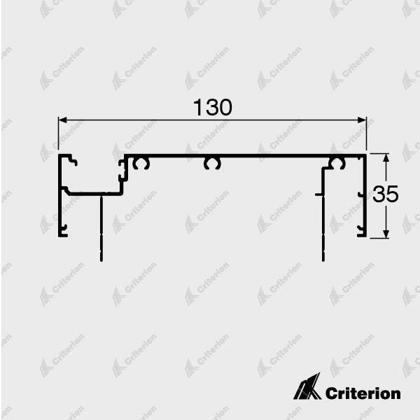 CI-P4236 Offset Glazing Frame (Long Legs) - Standard - Criterion Industries - office fitouts - australia
