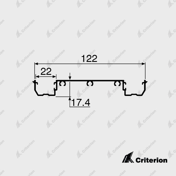 CI-P4242 Double Glazing Adaptor - Standard - Criterion Industries - office fitouts - australia