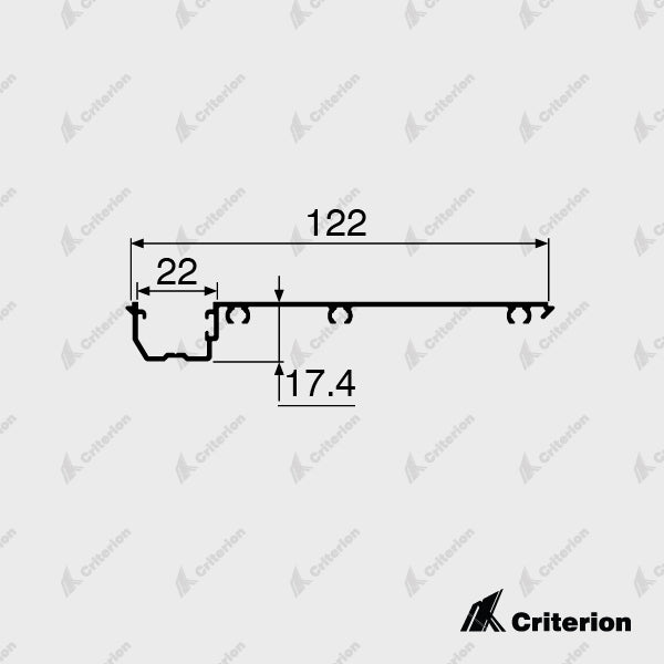 CI-P4243 Offset Glazing Adaptor - Standard - Criterion Industries - office fitouts - australia