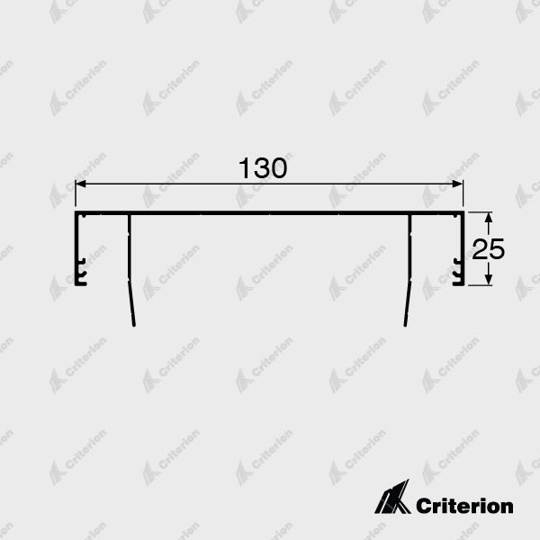 CI-P4410 Ceiling Channel No Shadowline - Standard - Criterion Industries - office fitouts - australia