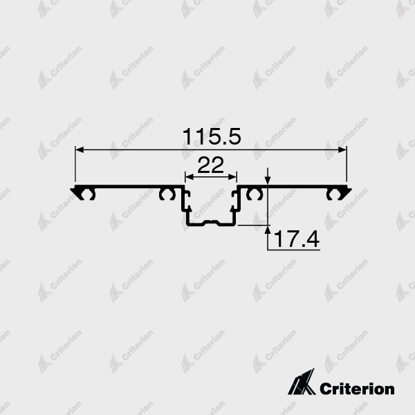 CI-P4940 Glazing Adaptor - Standard - Criterion Industries - office fitouts - australia