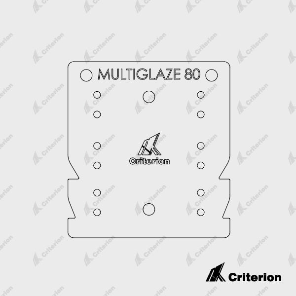 Drilling Jig - Multiglaze 80 - Standard - Criterion Industries - office fitouts - australia