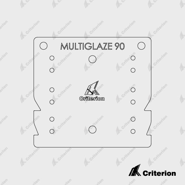 Drilling Jig - Multiglaze 90 - Standard - Criterion Industries - office fitouts - australia
