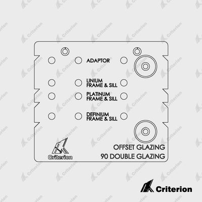 Offset and Double Glaze Drilling Jigs - Platinum, Definium & Linium 90