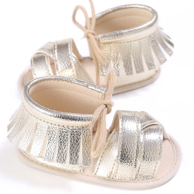 infantfeet Summer Tassel Baby Shoes Soft Non-slip Crib Shoes Moccasin Sandal Baby Girls Sandals 0-18M