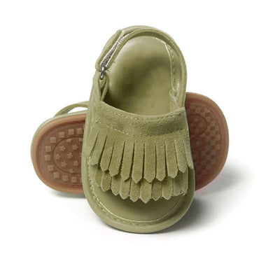 infantfeet Fashion Baby Boys SandaliasPU Tassel Shoes Baby Girls Sandalias Summer Leisure Shoes First Walkers