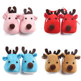 infantfeet Cozy Warm Winter Baby Shoes Christmas Deer Shoes First Walkers Sweet Antiskid Toddlers Shoes Baby Girls Infant Prewalker Toddler