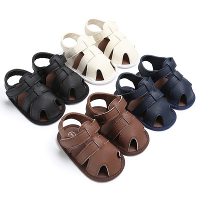 infantfeet Summer Beach Sandals Baby Boys PU Sandals Shoes Soft Hollow Shoes Boys Sandals