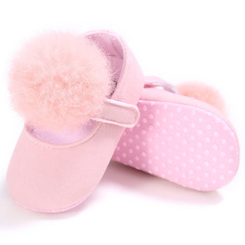 infantfeet Baby Shoes Sweet Infant Toddler Prewalkers Girl Princess Hair Ball First Walkers Pram Crib Bebe Shoes Mary Jane