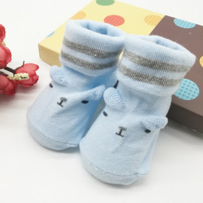 infantfeet Cotton Baby Short Socks Girls Boys 0-6M Lovely Toddler Infant Baby Boy Girl Soft Anti-slip Sole Socks Newborn Socks