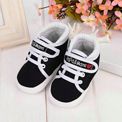 Baby Shoes Toddler Infant Toddler Stripe Flower Soft Sole Kid Girls Boy Baby Crib Shoes Prewalker 0-18 Months