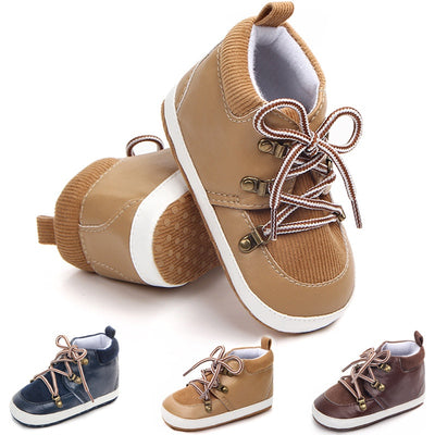 infantfeet Baby Shoes PU Suede Lace Casual Baby Boy Shoes Cotton First Walker Gentleman Baby Boy Shoes