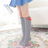 Girls Socks Pricess Knee High Bows Cute Baby Kids Socks Long Tube Sock Children Leg Warmer Girl Booties Sweet Socks