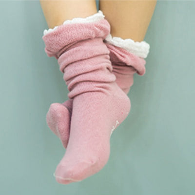 infantfeet Baby Girl Socks Kid Newborn Girl Cotton Lace Leg Warmer Anti-slip Knee Socks Lovely Socks