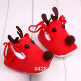 Cozy Warm Winter Baby Shoes Christmas Deer Shoes First Walkers Sweet Antiskid Toddlers Shoes Baby Girls Infant Prewalker Toddler