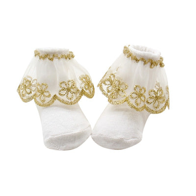 infantfeet Holiday Birthday Gifts Newborns Baby Lace Socks Infant Socks Girls Socks For Baby Girls 0-12 Months Elegant Princess