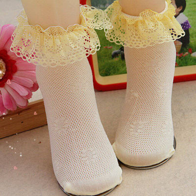 infantfeet Babys Infants Cotton Ankle Socks Baby Girls Princess Bowknots Socks