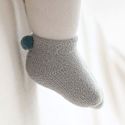 infantfeet Winter Thick Warm Non-slip coral fleece Socks Toddler Newborn Kid Boys Girl Velvet Socks