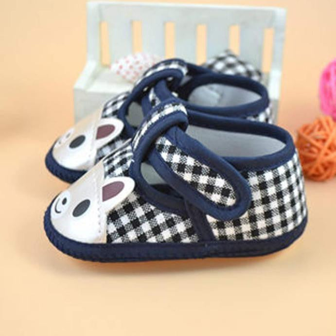 Newborn Girl / Boy Canvas Soft Sole Crib Toddler Shoes
