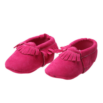 Soft Cotton Pink Baby Moccasins for Baby Girl