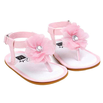 Summer New Baby Flower Pearl Sandals
