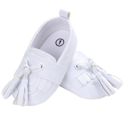 Tassel Moccasin Baby Shoes Newborn Boys Girls Soft Sole Shoes Toddler Kids Artificial PU Leather