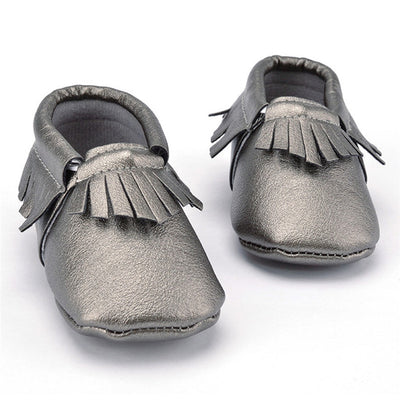 0-18 Months Tassels 3 Color PU Leather Baby Moccasin