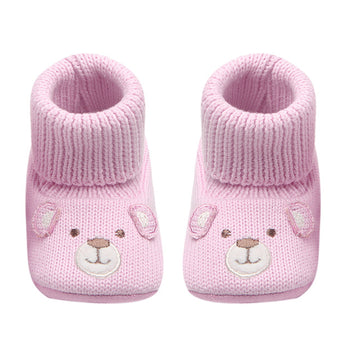 Baby Booties Cute Crochet Knit Baby Moccasins Shoes Non-slip Soft Sole Walking Booties For Kids Girls Babies