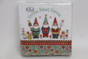 Gnome Sweet Gnome Luncheon Napkins