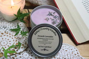 French Lavender - 8oz. Tin Candle
