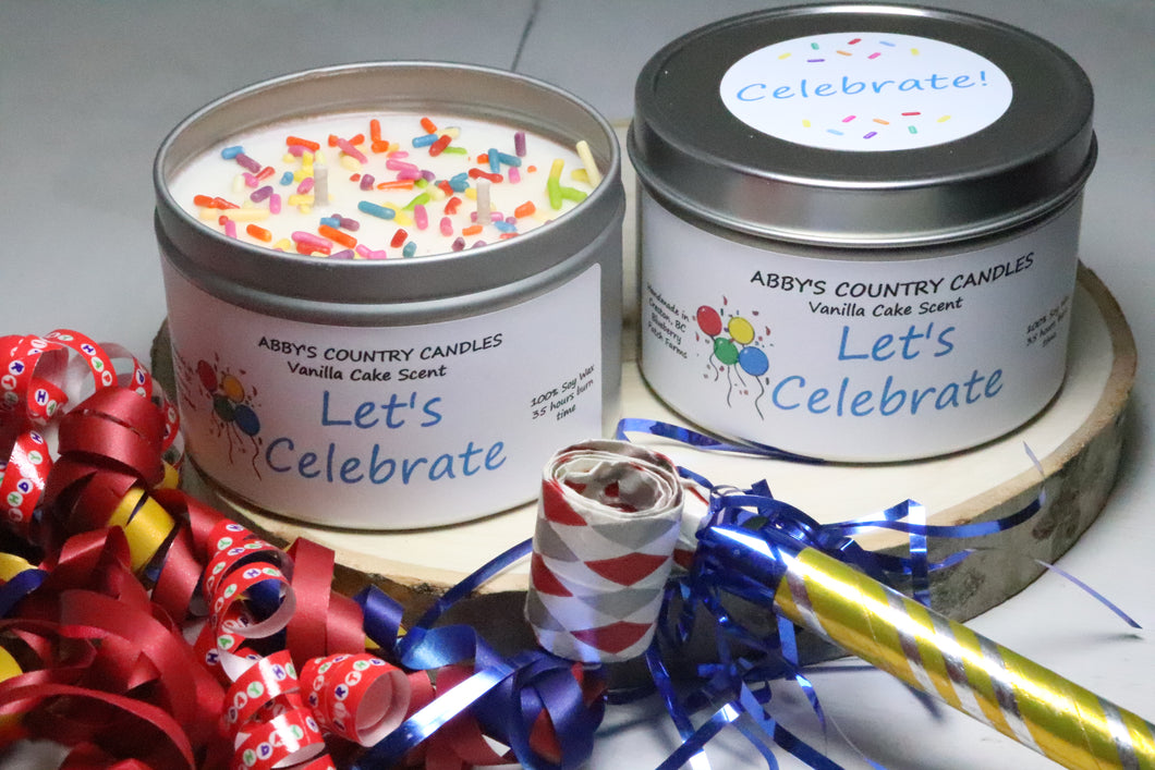 Celebrate! 8oz. Tin Candle