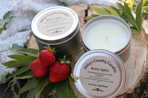 Berry Spice Candle - 8oz. Tin